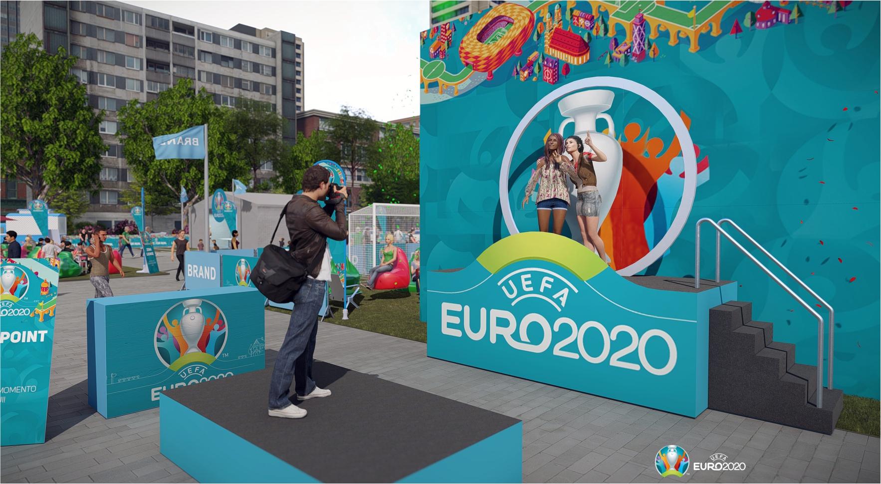 Fun Zone Euro 2020 zona de fotografia do europeu futebol