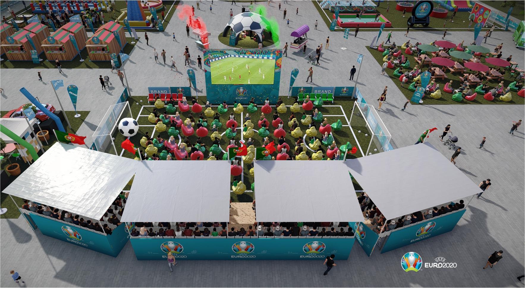 Fun Zone Euro 2020 mini estádio