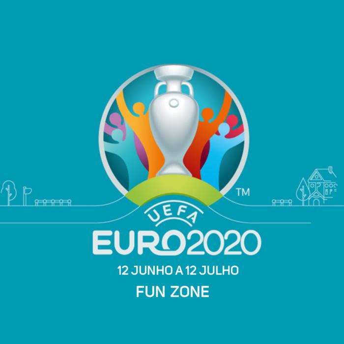 Fun Zone para o Euro 2020 UEFA de 12 de junho a 12 de julho