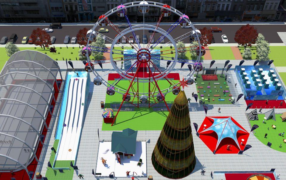 Vila de Natal - árvore de natal / roda gigante